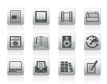 Media and information icons - Vector Icon Set Stock Vector - 12481045