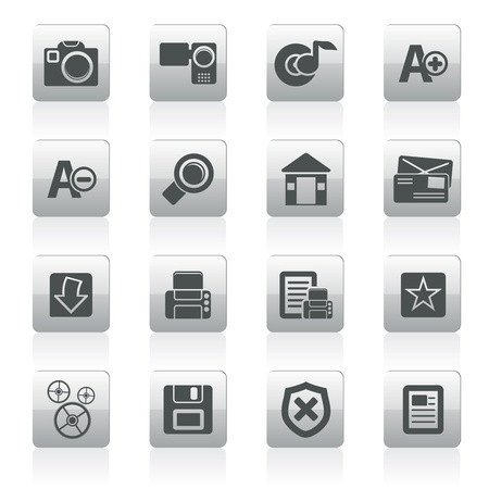 Internet and Website icons  Vector Icon Set Stock Vector - 12481055