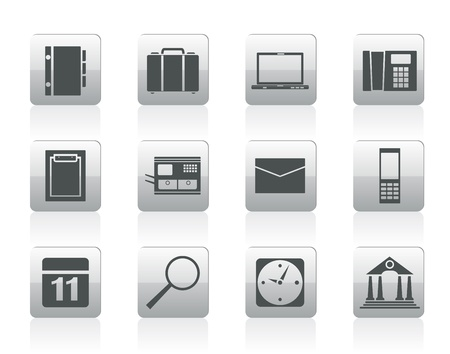 Business, Office and Mobile phone icons Stock Vector - 12481102