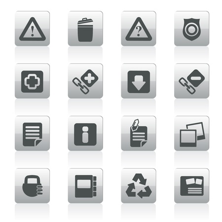 attachments: Web site and computer Icons - vector icon set