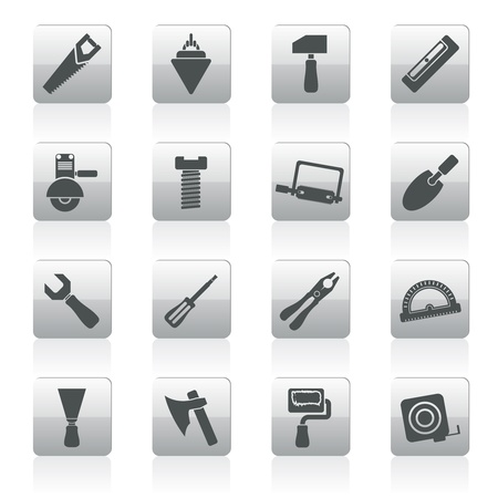 Building and Construction Tools icons - Vector Icon Set Stock Vector - 12481130