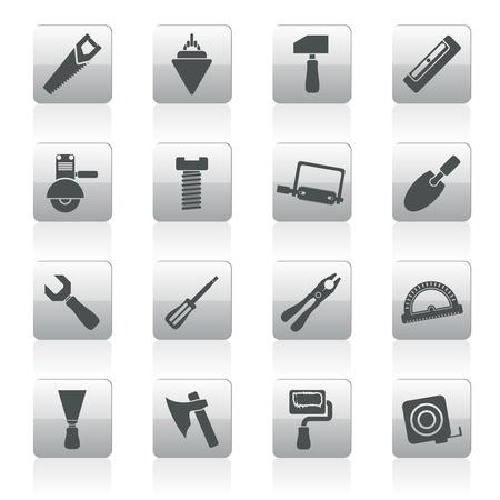 Herramientas de construcción y construcción iconos - Vector Icon Set