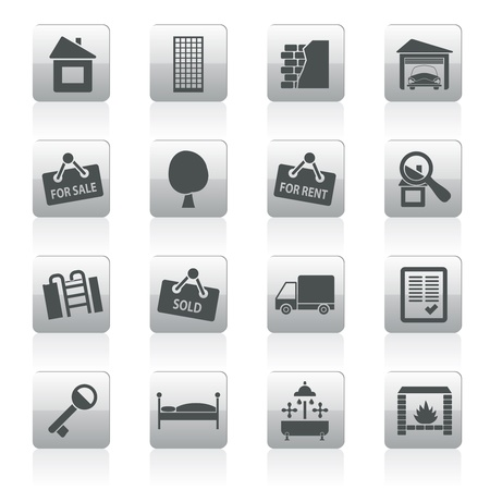 Real Estate icons - Vector Icon Set Stock Vector - 12481054