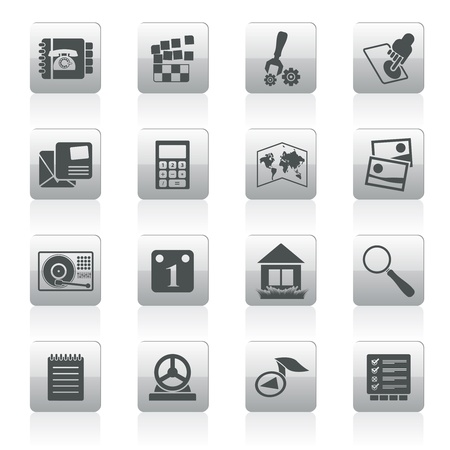 address book: Mobile Phone and Computer icon - Vector Icon Set