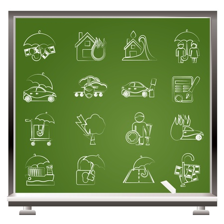Insurance and risk icons - vector icon set Stock Vector - 12481324