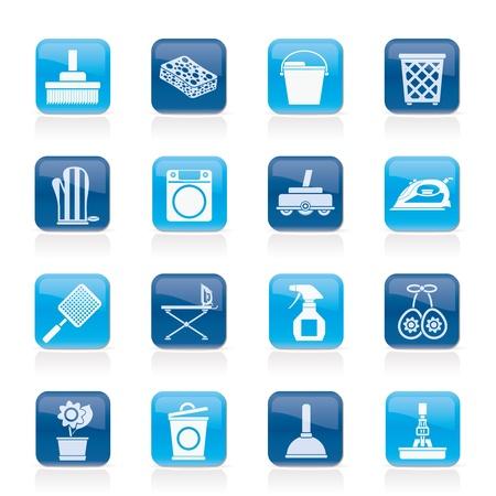 기밀: 가정 개체 및 도구 아이콘 - 벡터 아이콘 세트