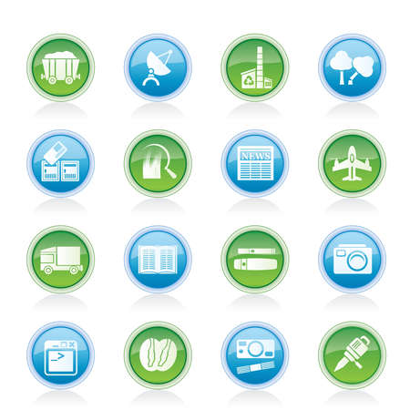 Business and industry icons - Vector Icon set Stock Vector - 12481361