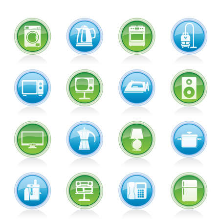 home equipment: home equipment icons - vector icon set