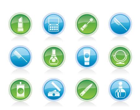hairspray: belleza, cosm�tica y maquillaje iconos - conjunto de icono de vector