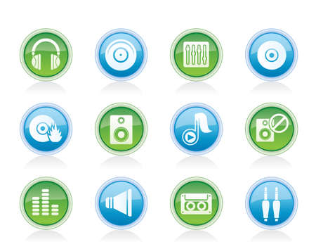 casette: Music and sound icons -  Vector Icon Set