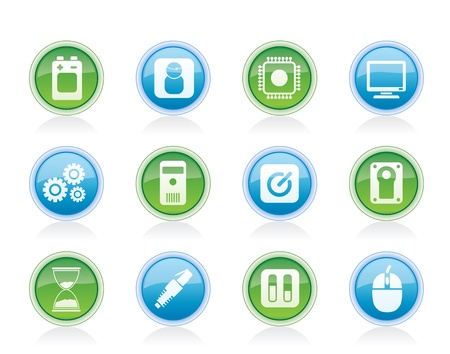 Computer and mobile phone elements icon - vector icon set Vector