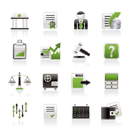 Stock exchange and finance icons - vector icon set Vetores