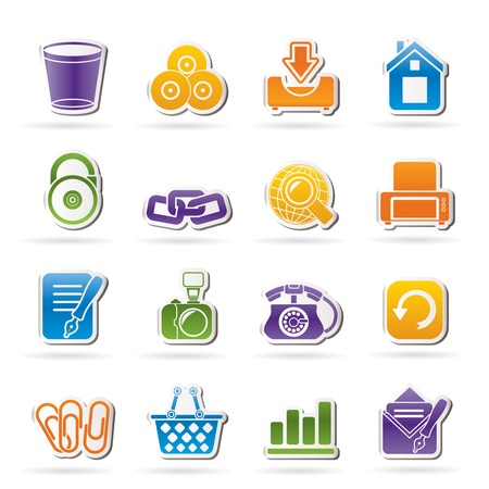 Website and internet icons - vector icon set Stock Vector - 12481362