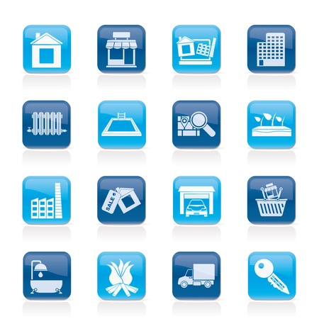 Real Estate and building icons - Vector Icon Set Stock Vector - 12481366