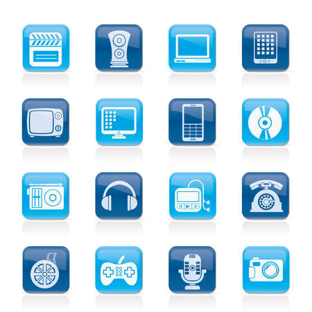 multimedia and technology icons - vector icon set Vector