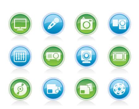 archive site: Media equipment icons - vector icon set