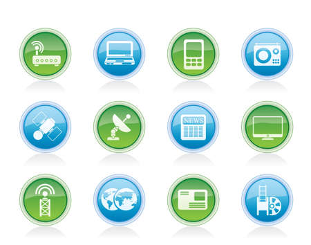 Business, technology  communications icons - vector icon set Vector