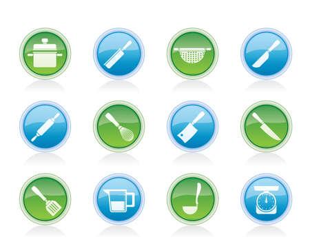 Kochen Geräte und Werkzeuge Icons - Vector Icon Set