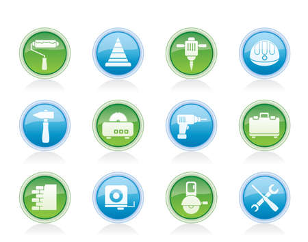 Building and Construction Tools icons - Vector Icon Set Stock Vector - 12481412