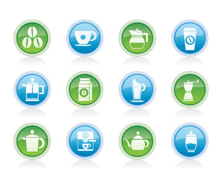espreso: coffee industry signs and icons - vector icon set