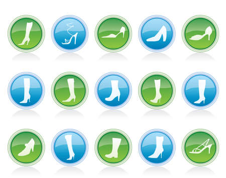 shoe and boot icons - vector icon set Stock Vector - 12481408
