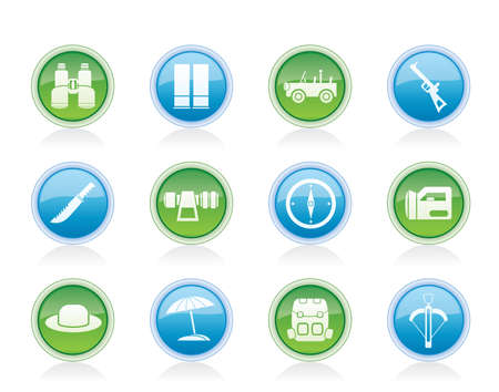 backsight: safari, hunting and holiday icons - vector icon set