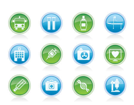 Medicine and healthcare icons - vector icon set Stock Vector - 12481432