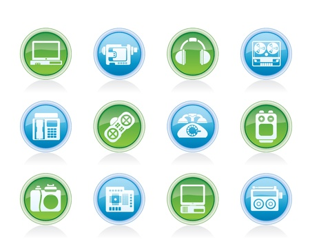 electronics, media and technical equipment icons - vector icon set Stock Vector - 12481475