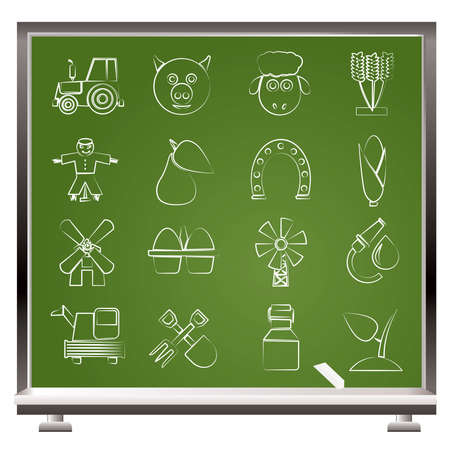 Agriculture and farming icons - vector icon set Stock Vector - 12481532