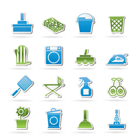 Huishoudelijke voorwerpen en gereedschappen iconen - vector icon set