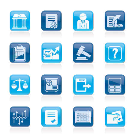 Stock exchange and finance icons - vector icon set Vector