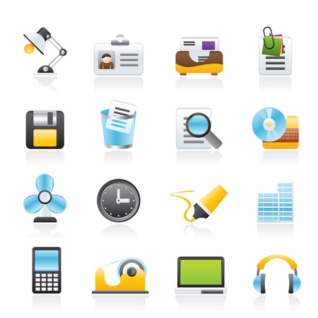 Office and business icons - vector icon set Stock Vector - 12853002