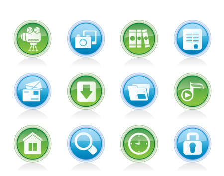 Computer and website icons - vector icon set Stock Vector - 12851960