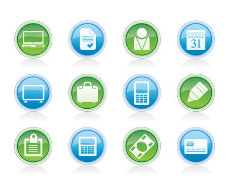 Business and office icons - vector icon set Stock Vector - 12851965