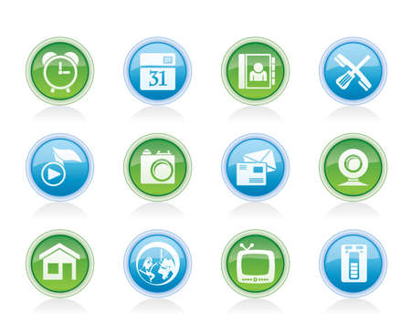 mobile phone and computer icons - vector icon set Stock Vector - 12853060