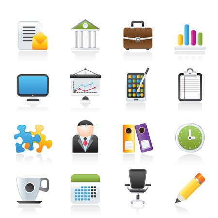 Business and office icons - vector icon set Stock Vector - 12853045