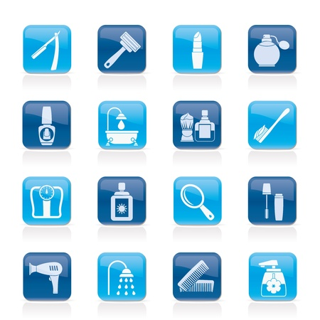 soins du corps et cosmétiques icônes - jeu d'icônes vecteur