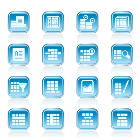 formatting: Database and Table Formatting Icons - Vector Icon Set