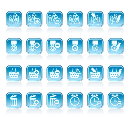 24 Business, office and website icons - vector icon set 1 Stock Vector - 12851949