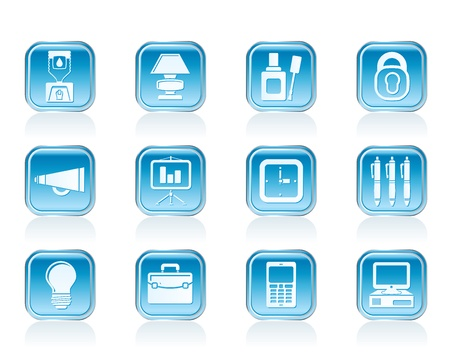 corrector: Business and office icons - vector icon set