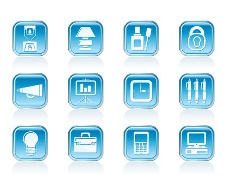correttore: Icone di business e ufficio - set di icone vettoriali