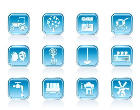 farming industry and farming tools icons - vector icon set Stock Vector - 12851940