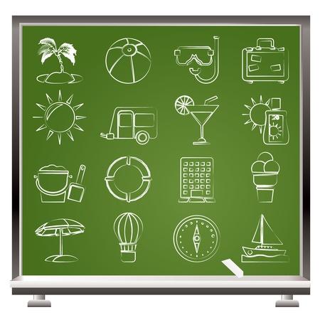 food and drink industry: Icone di vacanze e festivit� - set di icone vector
