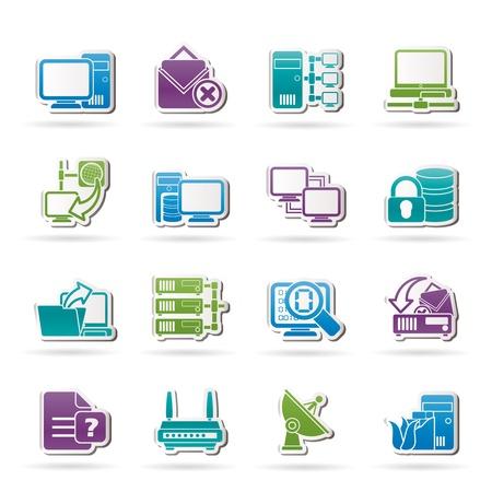 Computer Netzwerk-und Internet-Icons - Vector Icon Set