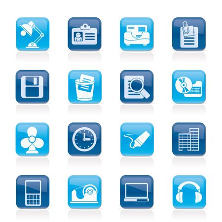Office and business icons - vector icon set Vector
