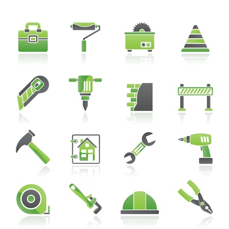 plumbing tools: Construction and building Icons - vector icon set
