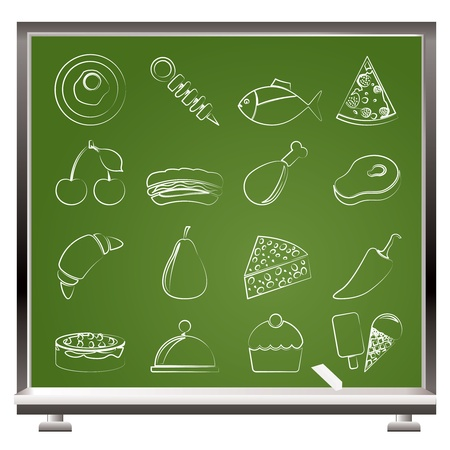platter: Different kind of food icons - vector icon set