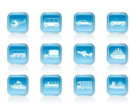 streetcar: Viajes y transporte iconos - conjunto de icono de vector