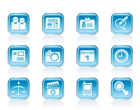 web site, computer and business icons - vector icon set Stock Vector - 12853083