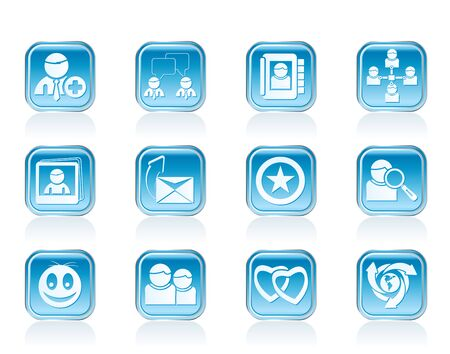 telecomunication: Internet Community and Social Network Icons - vector icon set